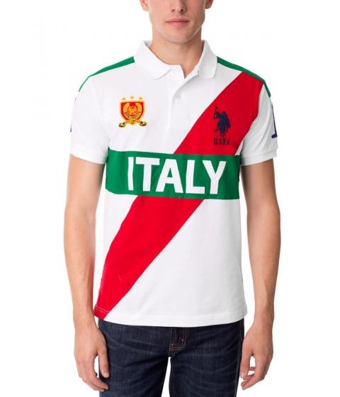 Imbracaminte Barbati US Polo Assn Slim Fit Italy Polo Shirt White