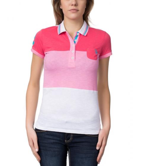 Imbracaminte Femei US Polo Assn Color Block Polo Shirt Pink Martini