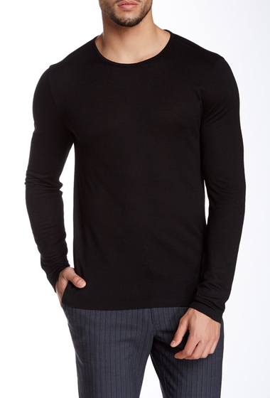 Imbracaminte Barbati John Varvatos Collection Crew Neck Pullover BLACK