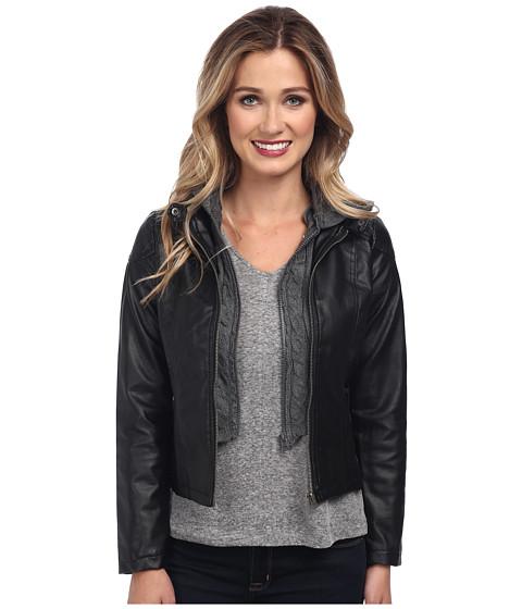 Imbracaminte Femei Gabriella Rocha Hooded Qulited Knit Jacket Black