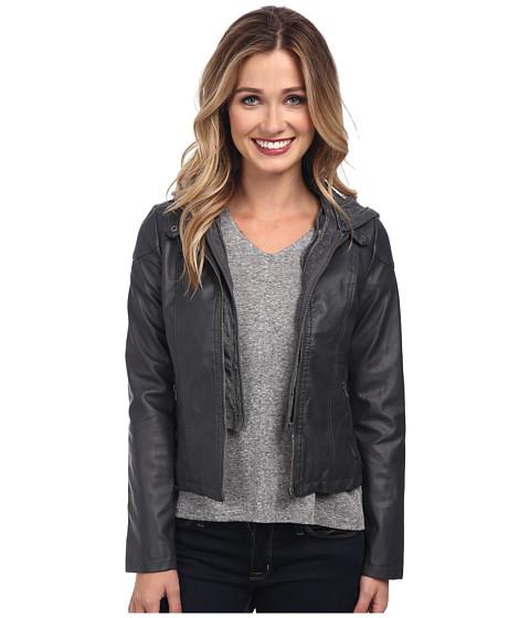 Imbracaminte Femei Gabriella Rocha Hooded Qulited Knit Jacket Heather Grey
