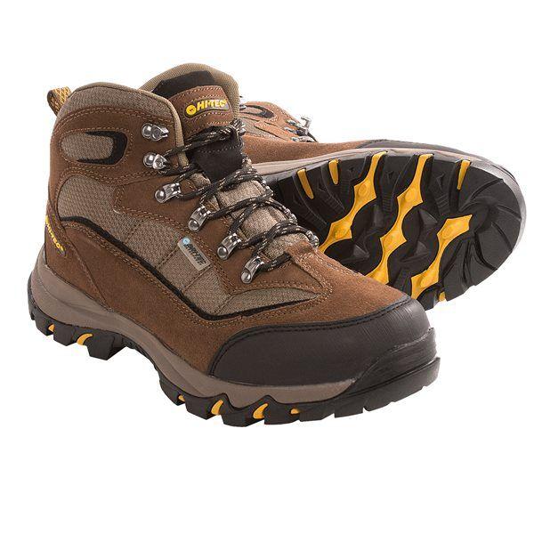 Incaltaminte Barbati Hi-Tec Hi-Tec Skamania Mid Hiking Boots - Waterproof Suede BROWNGOLD (01)