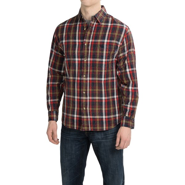 Imbracaminte Barbati Woolrich Red Creek Cotton Shirt - Long Sleeve OLD RED (06)