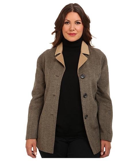 Imbracaminte Femei Pendleton Plus Size Doubletime Jacket Camel MixCharcoal Mix Herringbone DF