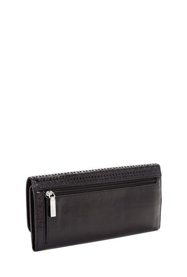 Accesorii Femei Hobo Vintage Sadie Trifold Leather Wallet PERF BLACK