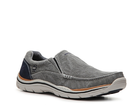 Incaltaminte Barbati SKECHERS Relaxed Fit Avillo Slip-On GreyNavy BlueOrange