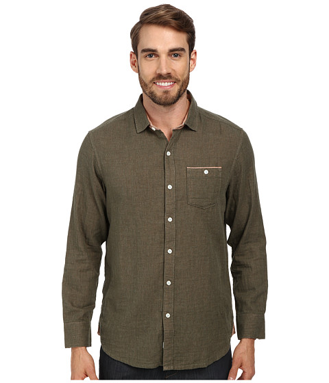 Imbracaminte Barbati Tommy Bahama Island Modern Fit Seeing Double LS Shirt Olive Heather