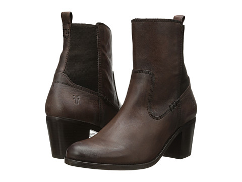Incaltaminte Femei Frye Janis Gore Short Dark Brown Buffalo Leather