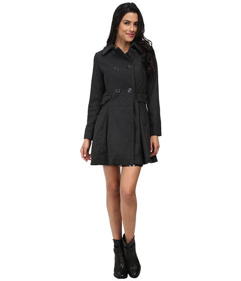Imbracaminte Femei Brigitte Bailey Double Breasted Jacket with Flap Pockets Charcoal