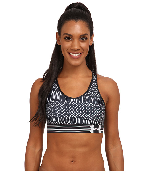 Imbracaminte Femei Under Armour UA HeatGearreg Alpha Printed Bra BlackBlackWhiteSwerve