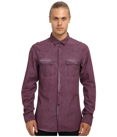 Imbracaminte Barbati Pierre Balmain Double Pocket Shirt Dark Magenta