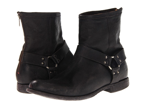 Incaltaminte Barbati Frye Phillip Harness Black Stone Antiqued