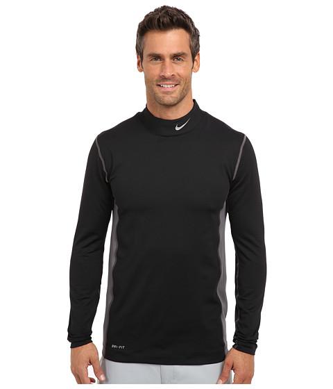 Imbracaminte Barbati Nike Nike Golf Hyperwarm Mock BlackMetallic Silver