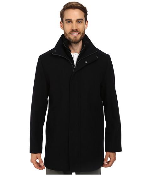 Imbracaminte Barbati Calvin Klein Wool Blend Bibbed Walking Coat CM473679 Black Midnight