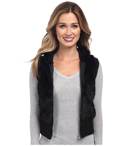 Imbracaminte Femei Gabriella Rocha Faux Fur Vest with Sweater Back and Vest Black