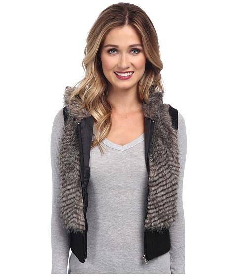 Imbracaminte Femei Gabriella Rocha Faux Fur Vest with Sweater Back and Vest BlackWhite