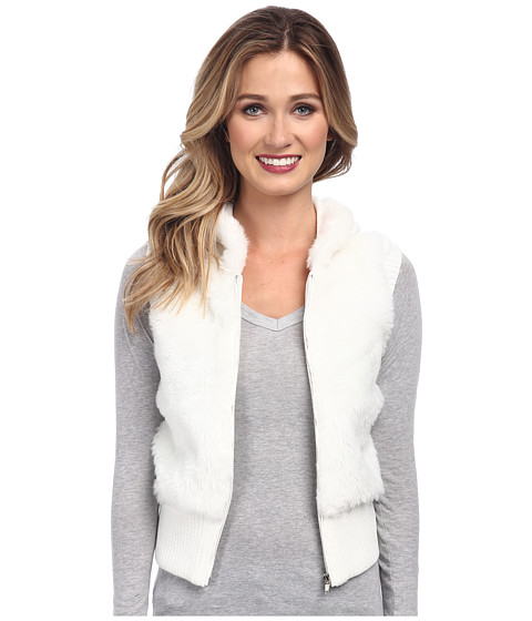 Imbracaminte Femei Gabriella Rocha Faux Fur Vest with Sweater Back and Vest Cream