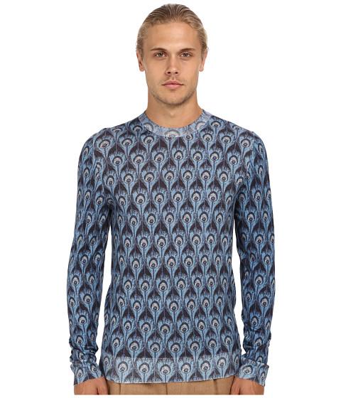 Imbracaminte Barbati Marc Jacobs Peacock Print Crewneck Sweater Blue