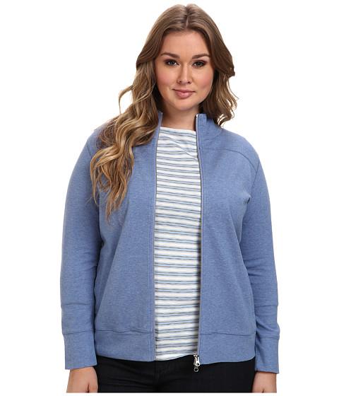Imbracaminte Femei Pendleton Plus Size Chehalem Knit Jacket Dutch Blue HeatherSoft Grey Heather