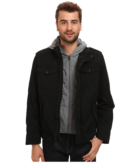 Imbracaminte Barbati Levi's Washed Cotton Four-Pocket Shortie with Zip Out Fleece Hood Black