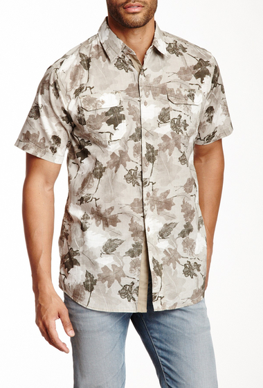 Imbracaminte Barbati Indigo Star Bedrock Short Sleeve Nature Shirt Stone