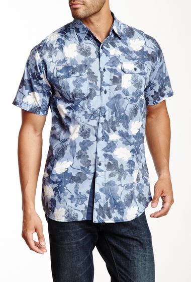 Imbracaminte Barbati Indigo Star Bedrock Short Sleeve Nature Shirt Blue