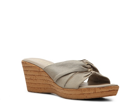 Incaltaminte Femei Italian Shoemakers Grayson Wedge Sandal Beige