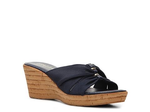 Incaltaminte Femei Italian Shoemakers Grayson Wedge Sandal Navy