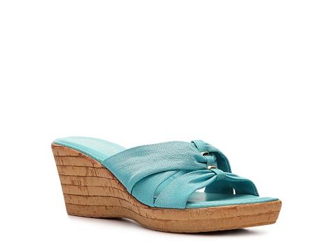 Incaltaminte Femei Italian Shoemakers Grayson Wedge Sandal Blue