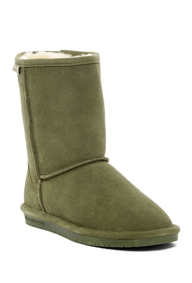 Incaltaminte Femei Bearpaw Emma Genuine Sheepskin Lined Short Boot OLIVE