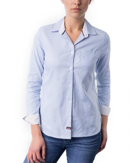 Imbracaminte Femei US Polo Assn Classic Oxford Shirt TERRY BLUE