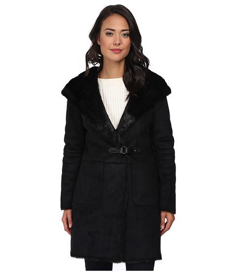 Imbracaminte Femei LAUREN Ralph Lauren Faux Sherling Coat Black