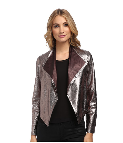 Imbracaminte Femei Nicole Miller Non-Stretch Leather Jacket Gold Multi