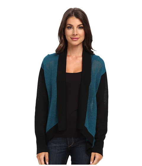Imbracaminte Femei Adrianna Papell quotAmeliaquot Open-Front Cardigan w Color Blocked Trim Teal