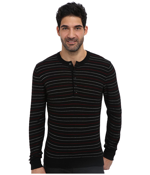 Imbracaminte Barbati 7 For All Mankind Multi Stripe Henley Sweater Onyx