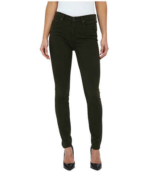 Imbracaminte Femei 7 For All Mankind Mid Rise Skinny w Contour Waistband in Brushed Sateen Hunter Green