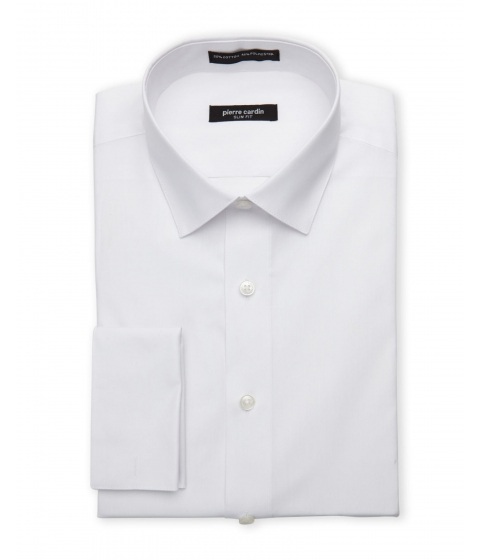Imbracaminte Barbati Pierre Cardin White Slim Fit French Cuff Dress Shirt White
