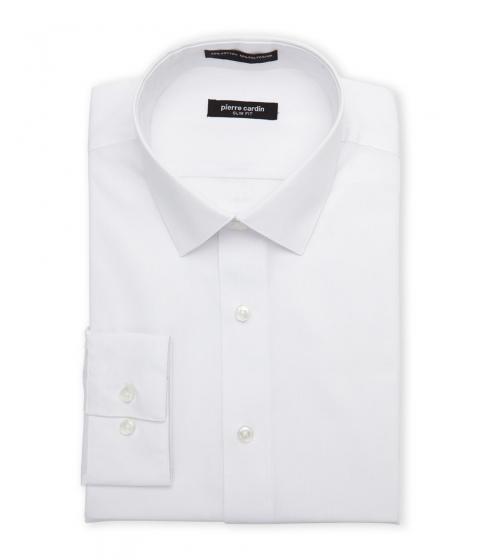 Imbracaminte Barbati Pierre Cardin White Fitted Dress Shirt White