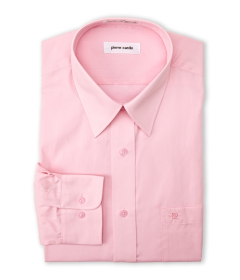 Imbracaminte Barbati Pierre Cardin Cherry Pink Solid Dress Shirt Cherry Pink