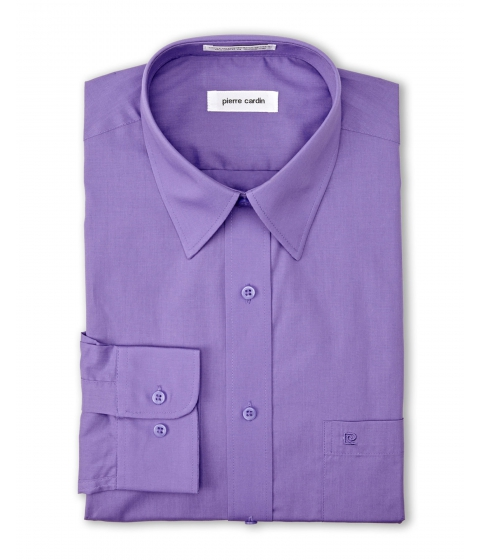 Imbracaminte Barbati Pierre Cardin PIERRE CARDIN Purple Solid Dress Shirt Purple