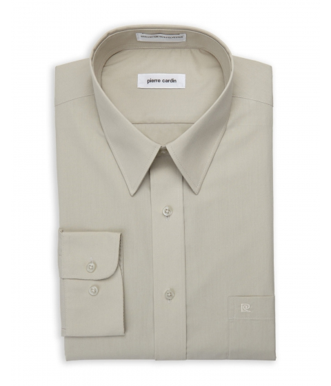 Imbracaminte Barbati Pierre Cardin New Oyster Solid Dress Shirt New Oyster