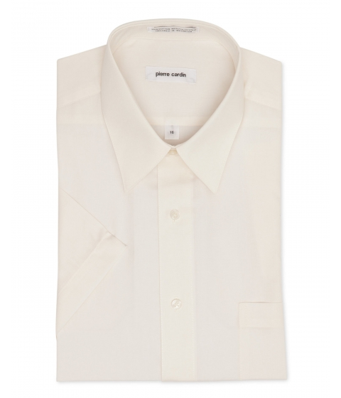 Imbracaminte Barbati Pierre Cardin Short Sleeve Cream Dress Shirt Ecru