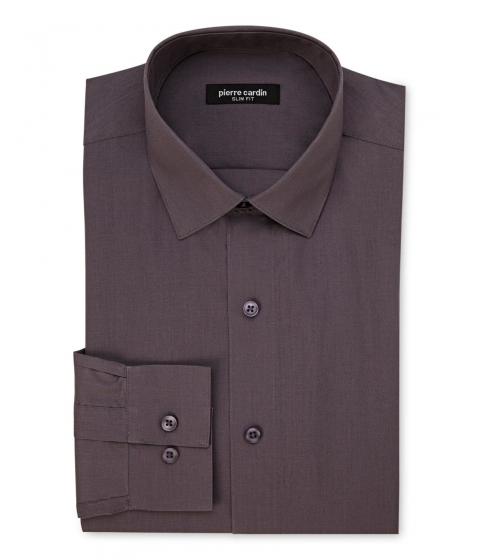 Imbracaminte Barbati Pierre Cardin Slim Fit Charcoal Dress Shirt Charcoal