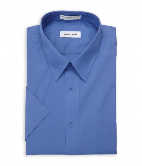 Imbracaminte Barbati Pierre Cardin Short Sleeve Ocean Blue Dress Shirt Ocean Blue