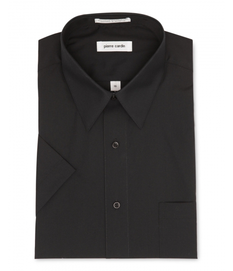 Imbracaminte Barbati Pierre Cardin Short Sleeve Black Dress Shirt Black