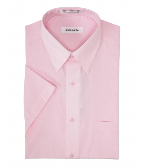 Imbracaminte Barbati Pierre Cardin Pink Short Sleeve Dress Shirt Pink