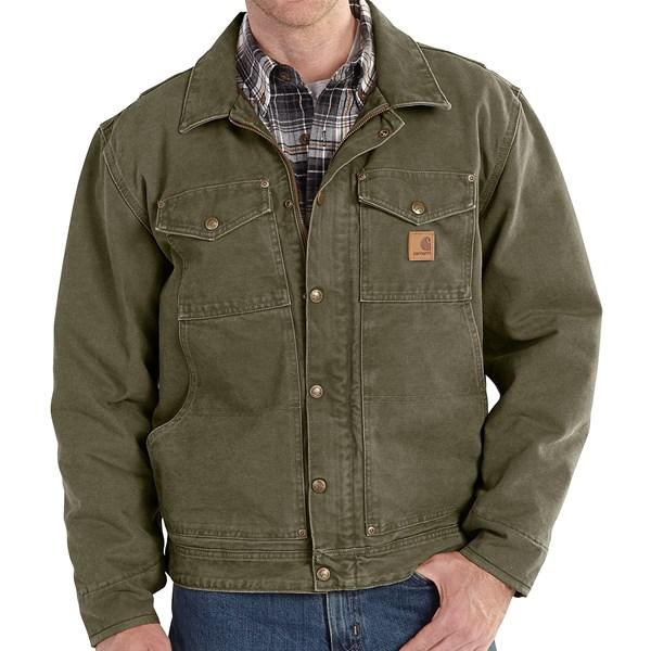 Imbracaminte Barbati Carhartt Berwick Sandstone Duck Jacket ARMY GREEN (03)