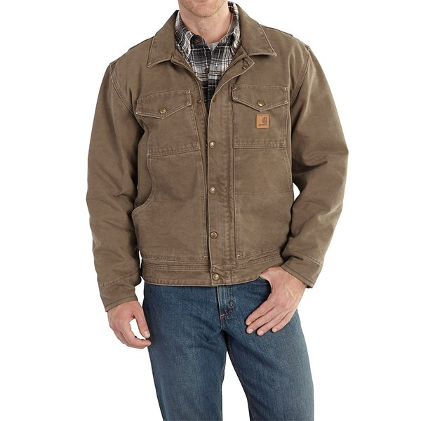 Imbracaminte Barbati Carhartt Berwick Sandstone Duck Jacket LIGHT BROWN (04)