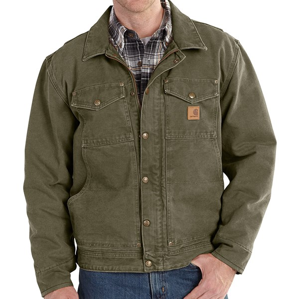 Imbracaminte Barbati Carhartt Berwick Sandstone Duck Jacket (For Big and Tall Men) ARMY GREEN (03)