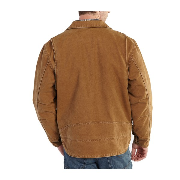 Imbracaminte Barbati Carhartt Berwick Sandstone Duck Jacket (For Big and Tall Men) BLACK (02)
